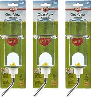3 عبوات من زجاجات مياه الحيوانات الصغيرة من كايتي، سعة كل منها 236 مل، لجرذان الهامستر والفئران الأليفة