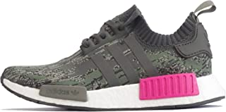 Originals NMD_R1 Pk Mens Running Trainers Sneakers Shoes Prime Knit (UK 9.5 US 10 EU 44, Utility Green Pink BZ0222)