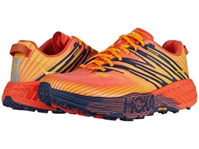 Hoka One One Speedgoat 4 GTX (Mandarin Red/Gold Fusion) Men