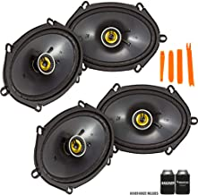 $143 » Kicker 46CSC684 - Two Pairs of CS-Series CSC68 6x8-Inch (160x200mm) Coaxial Speakers, 4-Ohm (2 Pairs)