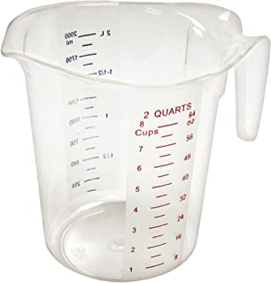 Winco Measuring Cup, Polycarbonate, 2-Quart