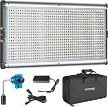 Neewer Dimmable Bi-Color LED Professional Video Light for Studio, YouTube Outdoor Video Photography Lighting Kit, Durable Metal Frame, 960 LED Beads, 3200-5600K, CRI 95+
