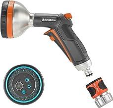 Gardena 3817M-FP Frost Proof-Premium Metal Multi Sprayer Nozzle, 5 Spray Patterns+Water Stop