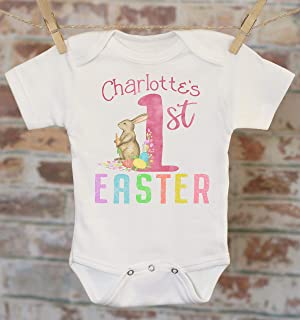 d5cc82ecc39f First Easter Personalized Onesie®, Custom Baby Onesie, Baby Shower Gift,  1st Easter
