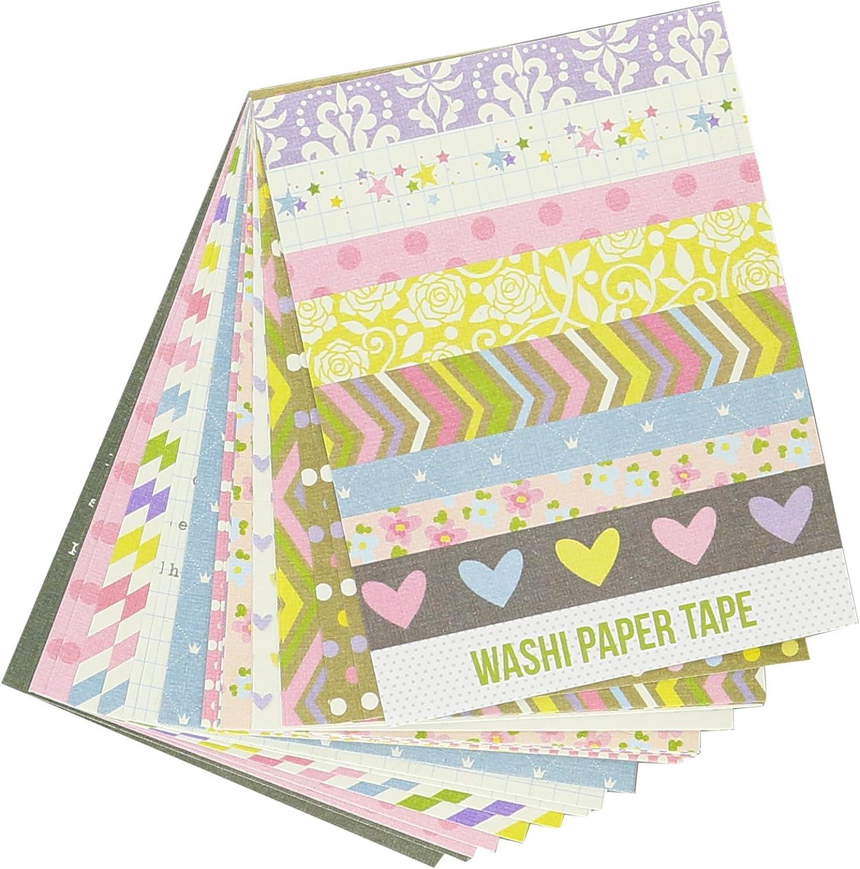Unbekannt Simple Stories Enchanted Papier Washi Tape 3 Zoll x 4-Zoll-Blatt 2-Designer B00RGFW366       Großhandel