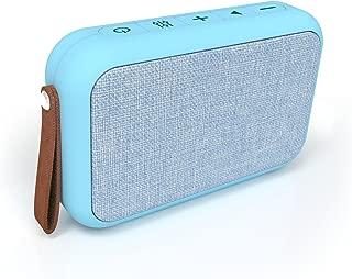 Tzumi Studio Series Speaker– Rectangular Waterproof Bluetooth Fabric Speaker – Add Powerful Sound and Ambiance to Any Room – Blue