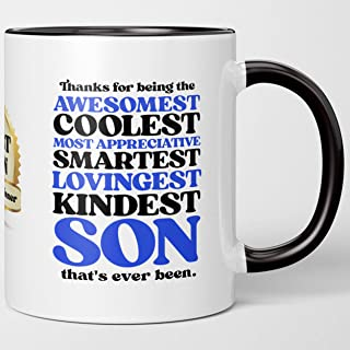 Birthday Gifts For Him - Official Winner Best Son. Gratitude In Uplifting Inspirational I Love You Coffee Mug From Dad Mom...