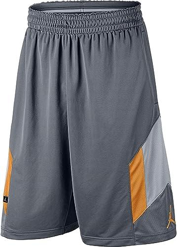 Jordan Air Rise 3 Men's Basketball Shorts Dark gris jaune 612853-066 (Taille S)
