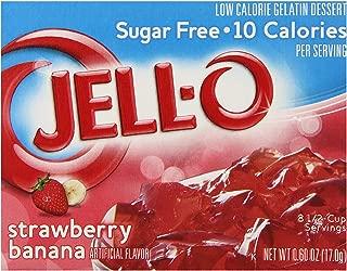JELL-O Strawberry Banana Sugar Free Gelatin Dessert Mix (0.60 oz Boxes, Pack of 6)