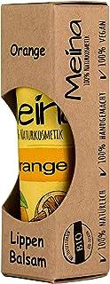Meina Naturkosmetik - Natürlicher Lippenbalsam mit Orange 1 x 5 g Vegan Lip Balm gegen trockene Lippen