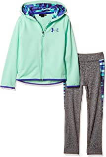 Under Armour Girls' Little Full Zip Hoody and Pant Set