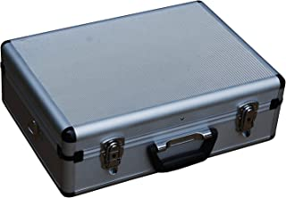 """Edward Tools Aluminum Carrying Case 18"""" - Heavy duty aluminum - Weather and dent resistant - Extra security double key lock - Padded dividers and 17 pocket tool holder - Multi use metal box"""