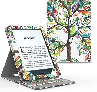 MoKo Kindle Paperwhite Funda - Premium Vertical Flip Smart Cover Case con Auto-Sueño/Estela - Álbo de la Suerte