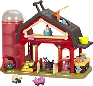 B. Toys – Baa-Baa-Barn Musical Farm Set – Lights & Sounds Toy Barn for Kids 2+ (7Pcs)