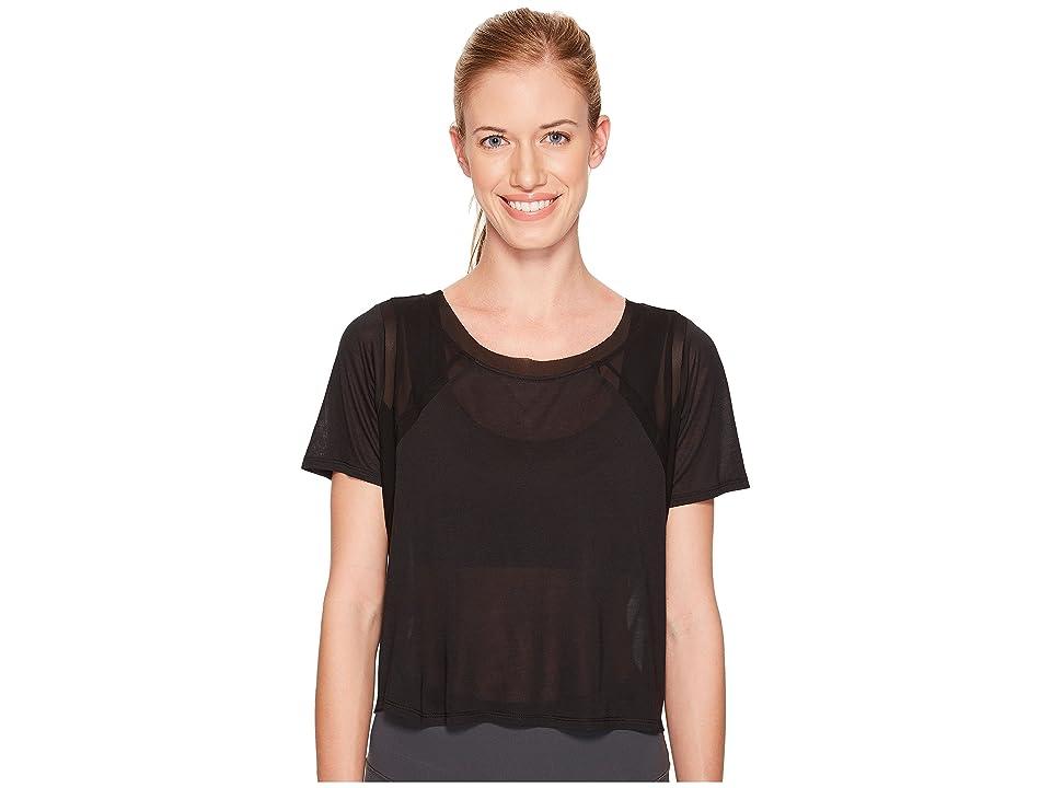 ALO Tone Short Sleeve Top (Black) Women
