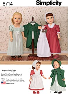 """Simplicity Creative Patterns 18"""" Doll Clothes Pattern"""
