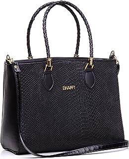 Bolsa Feminina Preta Grande Dhaffy, Alça de Mão e Transversal. cor:preto;tamanho:G