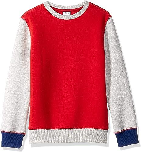 Amazon Essentials Boys Fleece Crew-Neck Sweatshirts