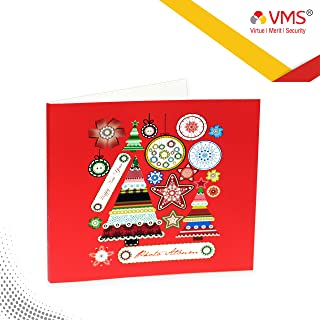 VMS Thermal Soft Photo Album Cover|Style Christmas & Happy Year |Colour Red | Size 203.2mm X 203.2mm for 8X8 Photo Paper Album Cover