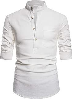 Best mens white linen shirts long sleeve Reviews