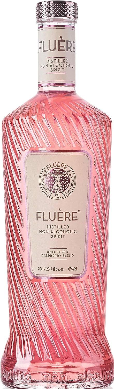 FLUÈRE - Alternativa Sin Alcohol de Ginebra Rosa, Bebida espirituosa Destilada Libre de Alcohol con Frambuesas Frescas, 700 ml