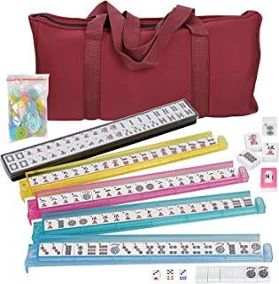 American Mah Jongg Soft Bag Case New 166 Tile Set with 4 Color Pushers,..