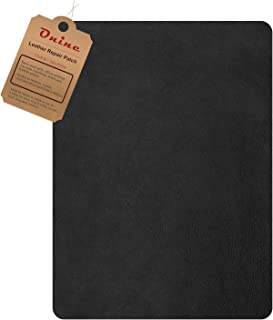 Leather Repair Patch,Self-Adhesive Couch Patch,Multicolor Available Anti Scratch Leather 8X11 Inch Peel and Stick for Sofas, car Seats Hand Bags Jackets (Ink Black)