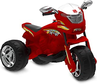Super Moto Gt Eletrica 6v Bandeirante Vermelho