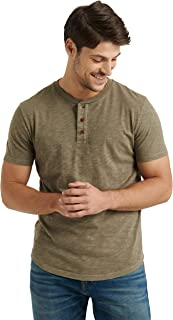 Men's Short Sleeve Slub Henley T Shirt