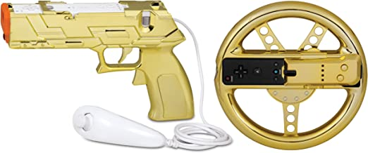 dreamGEAR Nintendo Wii Race and Shoot Bundle (gold)