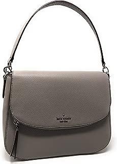 Kate Spade New York Jackson Soft Pebbled Leather Medium Flap Shoulder bag (Softtaupe)