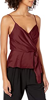 ASTR the label Women's Nile Sleeveless Crossover Wrap Cami Tank Top