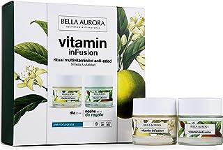 Bella Aurora Pack Vitamin Infusion Dia Antiedad Piel Mixta 50Ml + Vitamin Infusion Noche 50Ml Bella Aurora 1 Unidad 100 ml...