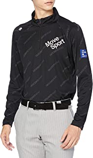 [デサントゴルフ] 【20年秋冬モデル】BLUE LABEL 長袖シャツ 裏面吸水加工 UVケア UPF50 汗染み防止 DGMQJB12 メンズ BK00(ブラック) 日本 M (日本サイズM相当)