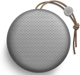 Bang & Olufsen Beoplay A1 Portable Bluetooth Speaker, Wireless Splash and Dust Resistant Speaker with Built-In Microphone, Natural