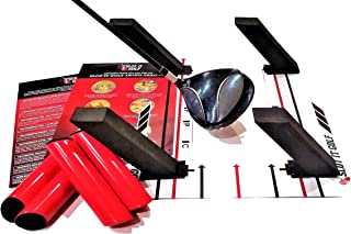 The Only Base & Poles Swing Training Aid Designed for Driver, Woods & Irons (Patent Pending). Groove a Better Swing Path. Use Black Poles for Woods, Red Poles for Irons. Slot It Golf Swing Trainer