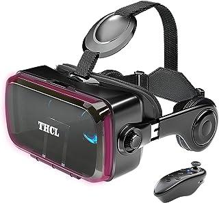 VRゴーグル vrゴーグルスマホ用 VR VRヘッドセット 通話に応答する機能付き アンチブルーレンズ 瞳孔/焦点距離調節 vrゴーグル dmm 1080PHD画質 3D ゲーム映画動画 4.7~6.2インチの iPhone Android な...