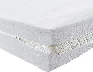PROCAVE Pokrowiec na materac 90 x 200 cm frotte bez pikowania | wysokość materaca 16-22 cm | ochraniacz na materac