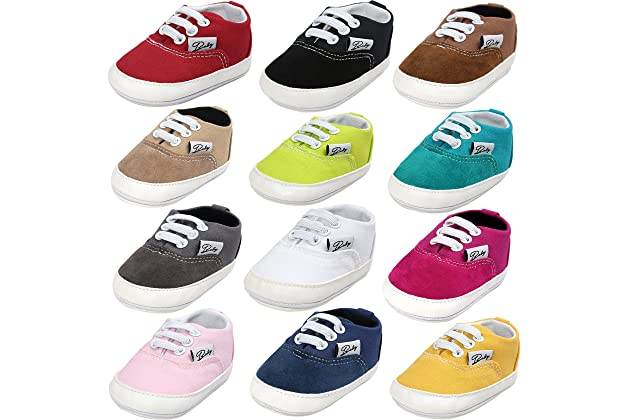 e337f5d12c00 BENHERO Baby Boys Girls Canvas Toddler Sneaker Anti-Slip First Walkers  Candy Shoes 0-24 Months 12 Colors