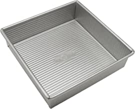 USA Pan Bakeware Square Cake Pan, 8 inch, Nonstick & Quick Release Coating, Made in the USA from Aluminized Steel