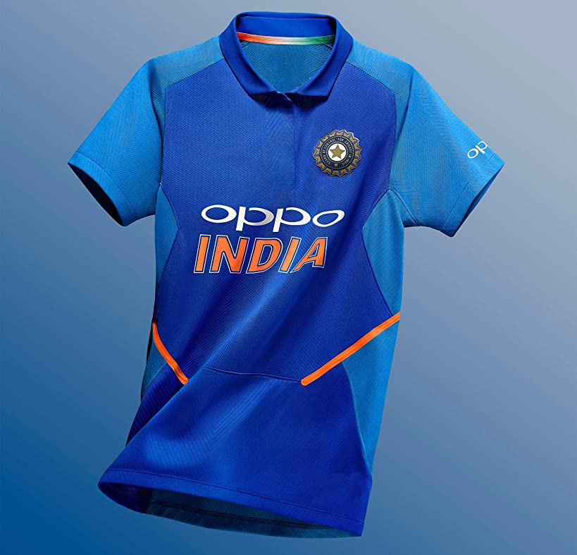 KD Cricket India Jersey 2019 Replica Team India Uniform Home Primary Tshirt Size Small to 2XL Customize Name Number World Cup 2019