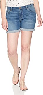 "Riders by Lee Indigo Womens Modern Collection 5"" Denim Rolled Cuff Short Denim Shorts - Blue"