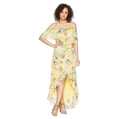 BB Dakota Madison Ruffled High-Low Dress (Citrus) Women