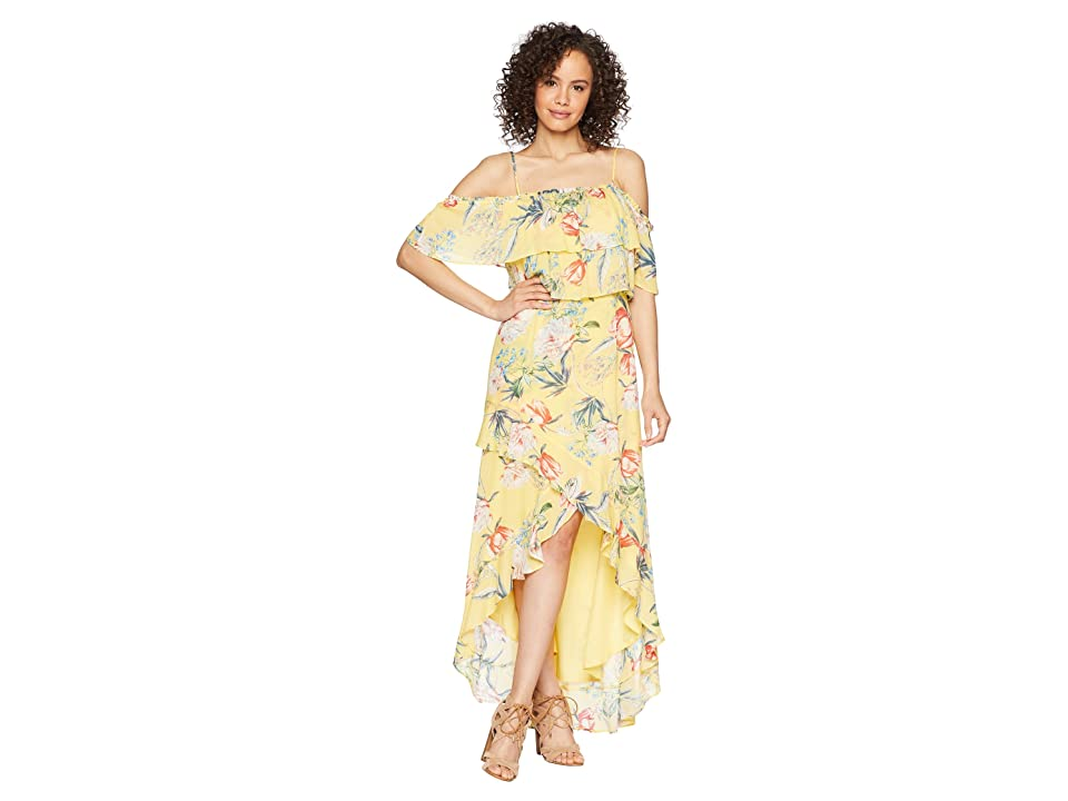 BB Dakota Madison Ruffled High-Low Dress (Citrus) Women