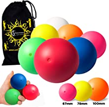 Play SIL-X Stage Balls Contact Juggling, Body Rolling Manipulation Includes Flames N Games Bag! Available in 3 Sizes! Set Includes 1 SIL-X Stage Ball