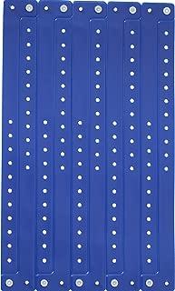 Lote de pulseras plástico/vinilo para eventos–personalizable y impermeable, color Azul marino 10