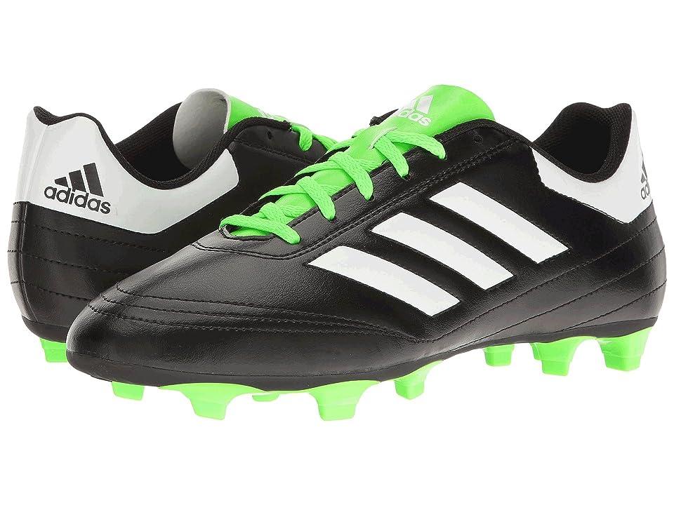 adidas Goletto VI FG (Core Black/Footwear White/Solar Green) Men's Soccer Shoes