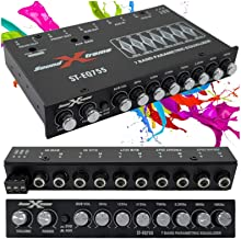 $36 » SoundXtreme ST-EQ755 1/2 Din 7 Band Car Audio Parametric Equalizer EQ with Front, Rear + Sub Output 8 Volt RMS Three Stere...