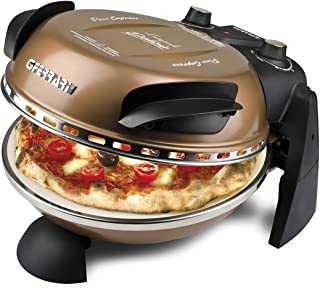 Four à pizza G3 Ferrari Delizia, 1200 W, 1 litre, 0 décibel, acier inoxydable, Bronze (Classe d'efficacité énergétique A)