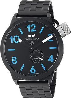 Vestal 'Canteen Metal' Quartz Stainless Steel Casual Watch, Color Black (Model: CNT453M08.5BKM)